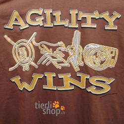 "T-Shirt ""Agility wins"""