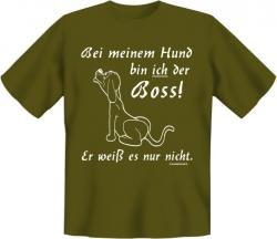 "T-Shirt ""Bei meinen Hund bin ich der Boss"""